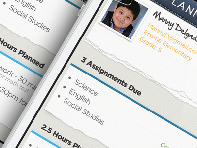 Planner/Tasks App homework study iphone grey navy blue ui planner tasks calendar