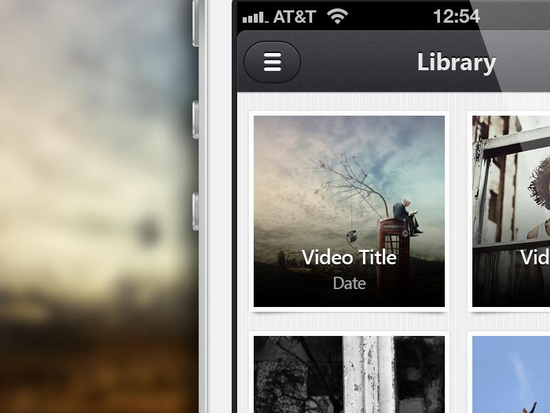 Video App video ios ui user interface grey iphone