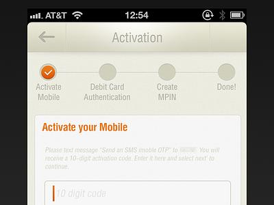 Activation Flow banking activation ui iphone