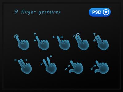 Finger Gestures gestures fingers cartoon free psd web