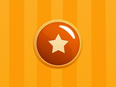 Button button game orange yellow ios