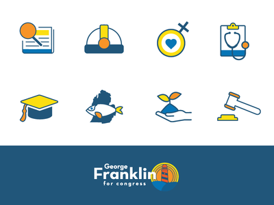 Political icons for George Franklin