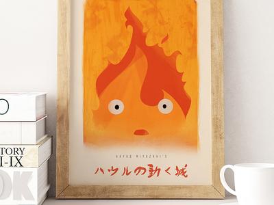Howl's Moving Castle - Calcifer Poster