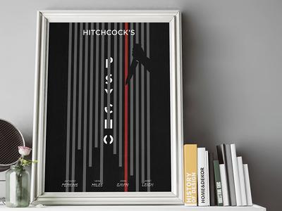 Psycho Minimal Movie Poster