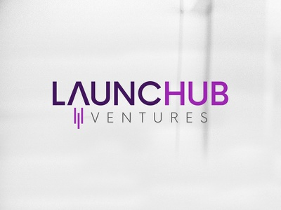 LAUNCHub Ventures - Logo logo graphic design launch rocket flame minimalist clean branding launchub icon symbol