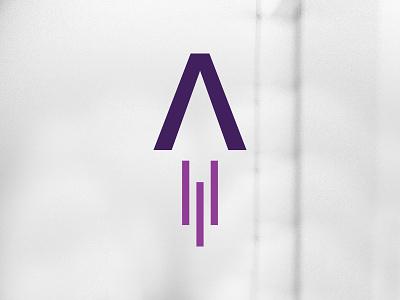 LAUNCHub Ventures - Logo Mark symbol icon branding clean minimalist flame rocket launch design graphic mark logo
