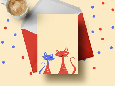 Cats In Sweaters - Christmas Greeting Card