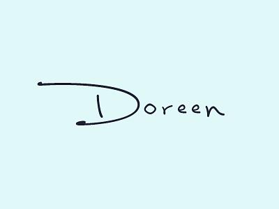 Doreen - Logo Exploration #2 logotype symbol branding clean minimalist design graphic logo jewelry handmade feminine