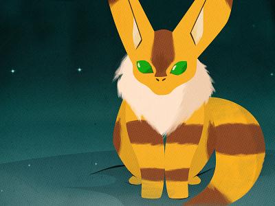 Nausicaä of the Valley of the Wind - Teto Closeup art illustration vector anime miyazaki movie poster design japan fox squirrel nausicaa valley wind