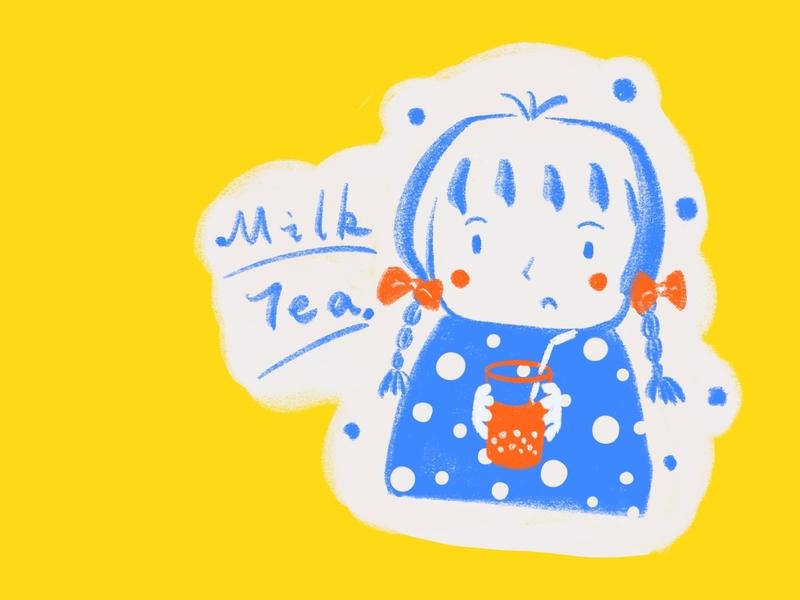 Milk tea design illustration graphic