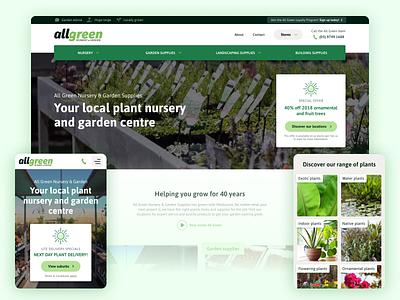 All Green website plants plant nursery gardening garden