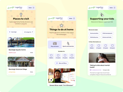 Stronger Together Logan family filter search filters location attractions mobile community