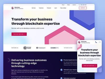 Blockchain website blur website blockchaintechnology geometric semiflat crypto blockchain