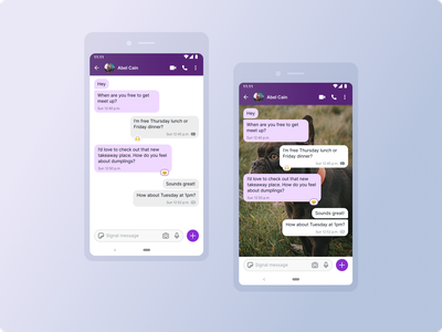 Signal for Android - 1-1 chats concept chat app conversation chat message messaging android signal