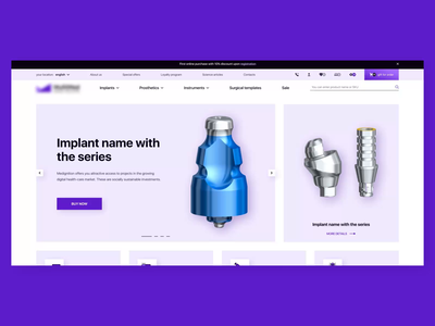 Implant store mouth mplants hygiene stomatology medicine website concept creative shopping online shopping ui animation ecommerce teeth tooth implant ux web ui  ux design animation ui design