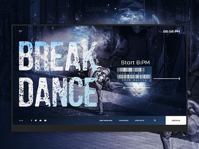 Inspirational design break dance digital cover web website ui design creative