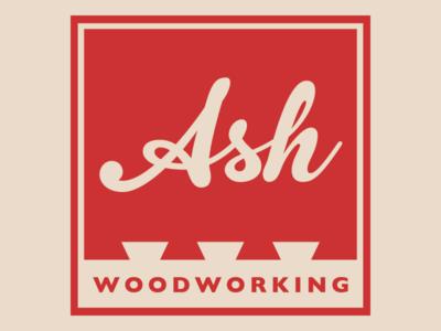 Ash Woodworking Logo logo branding illustrator one-color