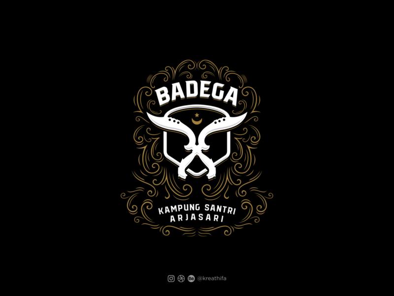 Badega Logo - Edited t-shirt design shield logo ornamental design handlettering iconic logo initial illustration logotype typography logo design graphic design logo