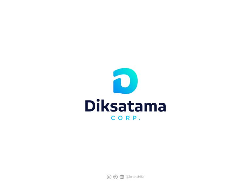 Diksatama Corp Logo Design digital logo logos typography iconic logo branding initial icon golden ratio iconic logo design graphic design logo