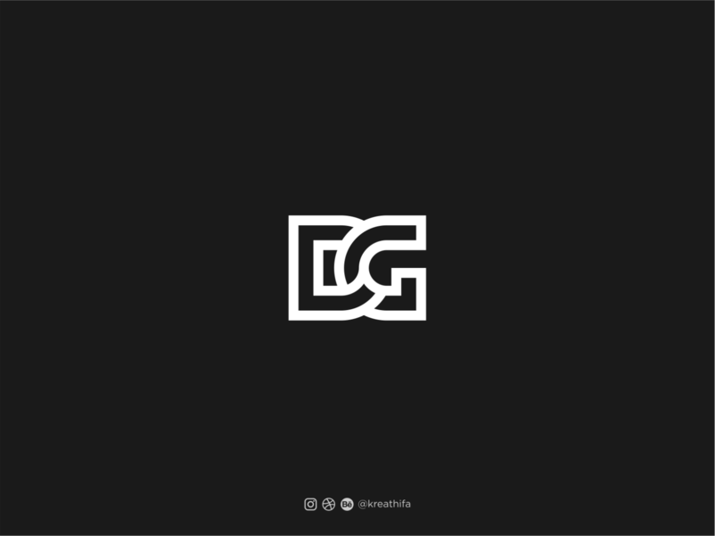 For Sale@ initial DG logo monogram golden ratio logotype logo design typography graphic design logo initial logo initials
