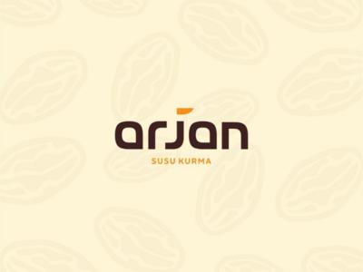 Arjan Susu Kurma Logo typography iconic logo dates graphic design logo design logo