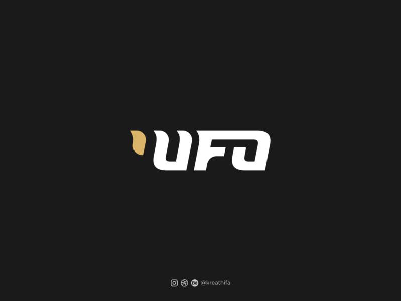 UFO Quotes logo ufo monogram iconic illustration initial golden ratio logo design logotype typography graphic design logo