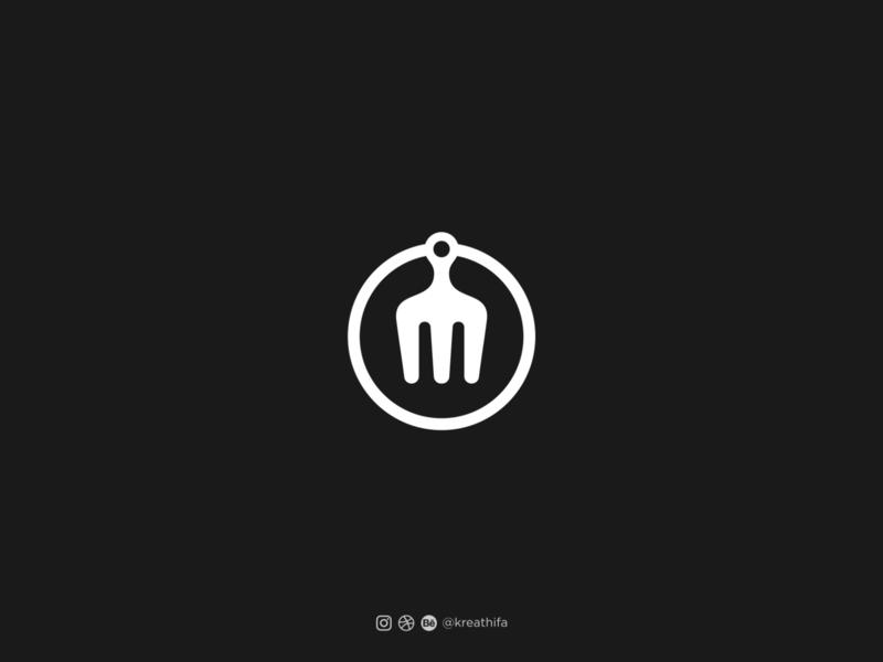 Restomamih Logo Design illustration handlettering iconic logo monogram initial golden ratio logotype typography logo design graphic design logo