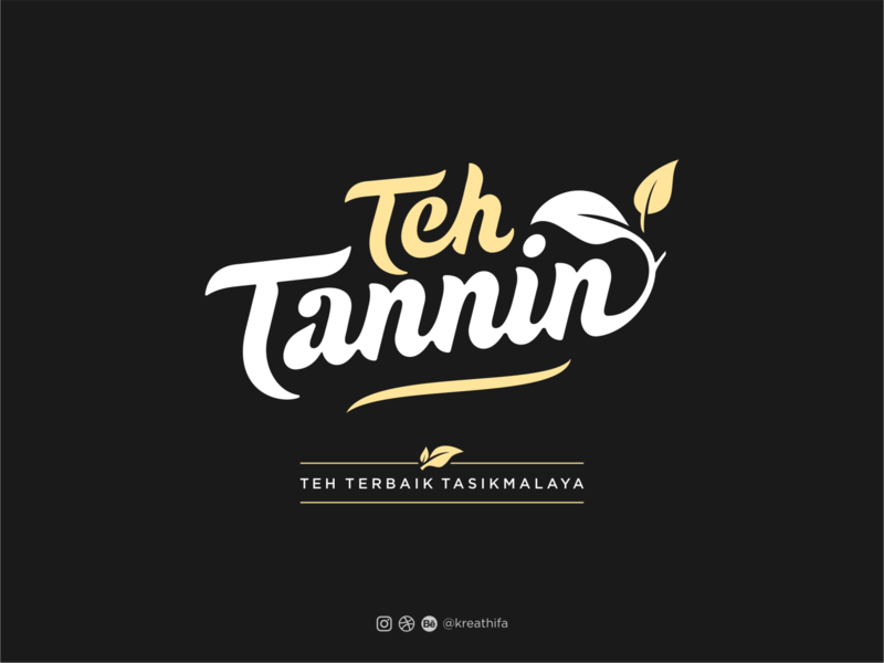 Teh Tannin Logo Design tea logo tea iconic handlettering monogram golden ratio branding logotype typography logo design graphic design logo