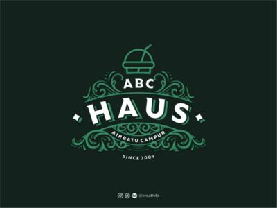 ABC HAUS Logo Design logotype hand drawing hand lettering florish heraldic typography graphic design logo design logo
