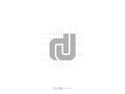 DJ monogram for ROANS DJ Logo letters monogram letter mark monogram logo handlettering monogram initial golden ratio iconic logotype typography logo design graphic design logo