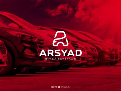 ARSYAD RENT CAR LOGO car monogram iconic logo branding golden ratio iconic logo design graphic design logo