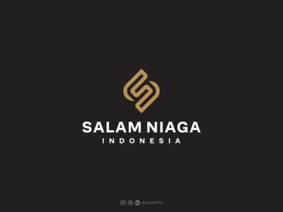 PT SALAM NIAGA INDONESIA logomark monogram letter mark monogram logo monogram logotype golden ratio logo design graphic design logo