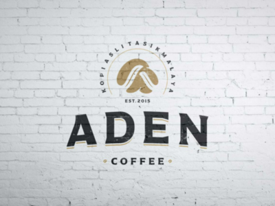 Aden Coffee Logo hand lettering logo typography graphic design coffee coffee logo logo inspiration logo design