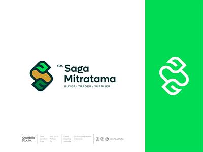 Saga Mitratama Logo Design agriculture iconic golden ratio logotype logo design graphic design