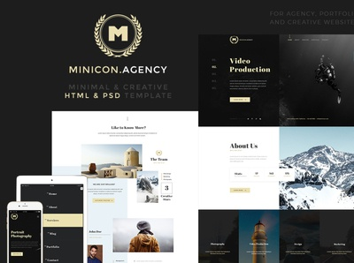 Minicon - Minimal HTMl and PSD Template