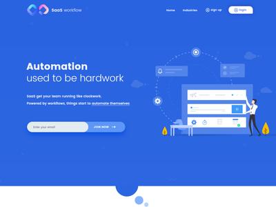 SaaS Workflow Landing Page