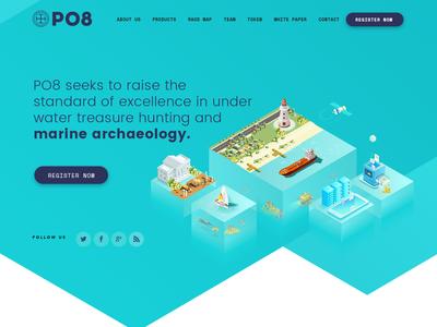PO8 ICO Landing Page