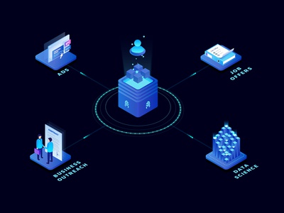 Data Monetization Illustration of Block Chain Technology