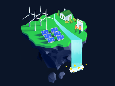 Greenx Floating Island Illustration