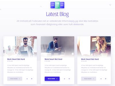 Forbruker Blog Page Design