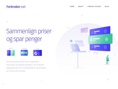 Forbruker Home Page Design