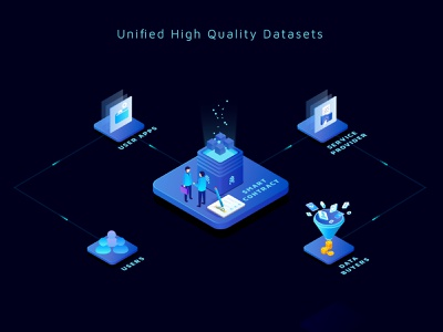 Unified Datasets Illustration smart contract social app data viz database data visualization user experience social network crypto exchange cryptocurrency blockchain illustration creative