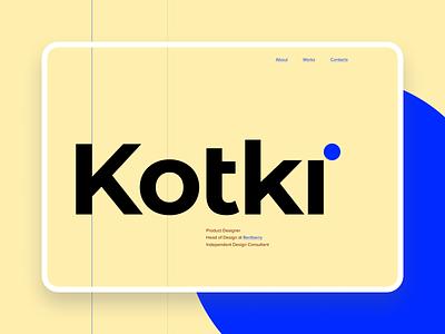 Kotki — Personal site consulting webdesign clean product design readymag bold portfolio landing website web typorraphy minimal