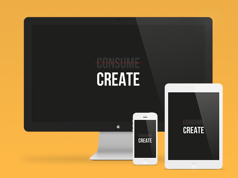 """Create"" wallpaper wallpaper iphone ipad desktop create black white minimalism clean minimal retina"