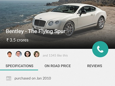 Car Details good simple awesome bentley car inspiration android material mobile app design ui