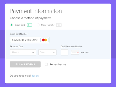 DailyUI - Day 002 Credit Card Checkout ui clean form payment card 002 dailyui
