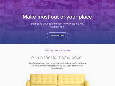 DailyUI - Day 003 Landing Page ui app home decor page landing 003 dailyui