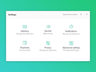 DailyUI - Day 007 Settings clean ui icons settings app 007