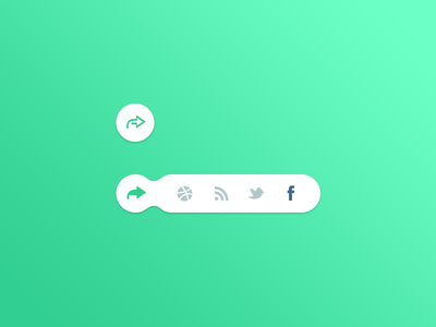 DailyUI - Day 010 Social Share button icons facebook share 010