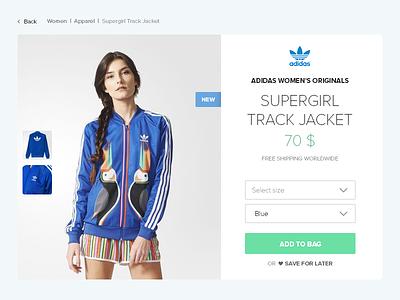 DailyUI - Day 012 E-Commerce Shop adidas product site single shop 012
